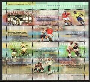 NORWAY 2002 CENTENARY SOCCER UNION UNMOUNTED MINT S/LET 6  [#1130]