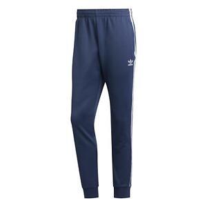 adidas ORIGINALS MEN'S SUPERSTAR TRACK PANT JOGGERS BLUE 3-STRIPE SST TREFOIL M