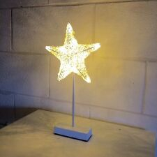 Premier 42cm Woven Rope Star with 10 Warm White LED Lights