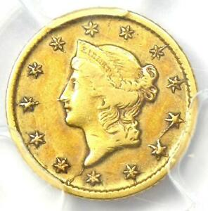 1849-O Liberty Gold Dollar G$1 - Certified PCGS XF Detail (EF) - Rare Date Coin