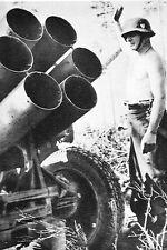 WW2 - Lance-roquettes allemand Nebelwerfer - 6 tubes de 150 mm
