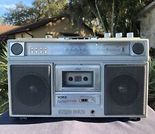 Yorx K6060 Portable Am/Fm Radio~Cassette~8 Track Stereo~Boombox~Play / Record