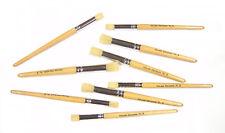 Major Brushes Short Handle Stencil Brushes - Set of 5