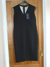 LADIES MARKS AND SPENCER COLLECTION PETITE DRESS BLACK SIZE 14