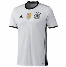 ADIDAS -GERMANY -Men's Official Soccer Jersey -White -2014 World Champions - M