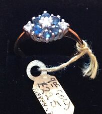 9ct Gold Ring with Diamonds & Sapphires     Ret £225     BRAND NEW