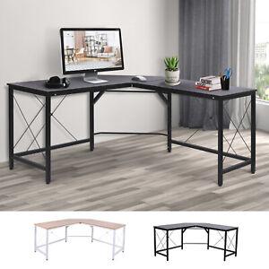 L-Shape Corner Gaming Desk Computer PC Workstation Writing Table Three Worktop