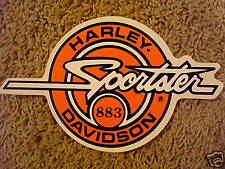 "New Vintage Harley Davidson Sportster 883 Window Decal 9"" Tank Style"