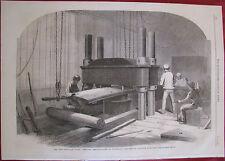 CHATHAM BOATYARD IRON CLAD ARMOUR PLATES ENGLAND 1865 ILLUSTRATED LONDON NEWS
