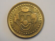 Clown children kids girls or boys brass good luck token medal coin medallion