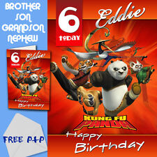 KUNG FU PANDA - PERSONALISED Birthday Card Son Brother Nephew Grandson