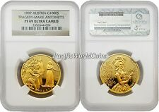 Austria 1997 Tragedy Marie Antoinette 1,000S Gold NGC PF-69 ULTRA CAMEO