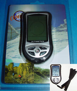 8-in-1Digital Altimeter with Compass, Barometer, Thermometer and More, Brand New