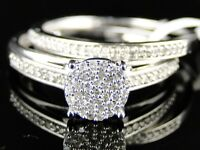 10K WHITE GOLD LADIES WOMENS ROUND CUT DIAMOND WEDDING ENGAGEMENT BRIDAL RING