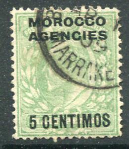 MORROCO AGENCIES (25725): GB used MARRAKESH postmark/cancel