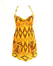 Nanette Lepore 8 Halter Dress 8 Wild West Ikat Print with Cutout Back
