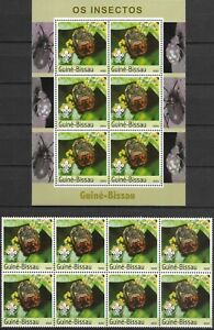 """GUINEA-BISSAU - 2003 MNH """"INSECTS Of The WORLD  - V"""" S/S And Block Of 8 !!"""