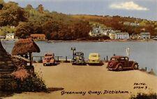 Vintage c1960 Postcard, Greenway Quay Car Park, Dittisham, Devon 21X
