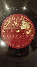 TANGO 78 rpm RECORD Odeon CARLOS GARDEL Besos que matan / Insomnio SPANISH