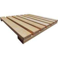 Pedana doccia in legno naturale di faggio cm 50x50 prodotta artigianalmente