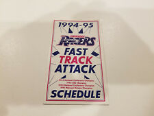 Omaha Racers 1994/95 CBA Basketball Pocket Schedule - American Airlines