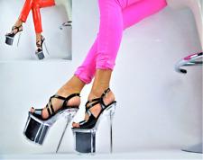 Damenschuhe Club-Party Glitzer-LACK Pumps EXTREM Plateau XXXL GOGO High Heels