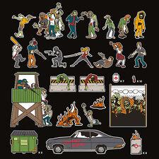 ThinkGeek Zombie Apocalypse Magnet Set - Undead & Survivors - Walking Dead