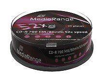 Cd-r 700mb 80min Mediarange Cake 25 52x - Mr201 (Cod. Tec-pcs70301mr201)