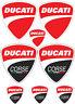 Adesivi Sticker Ducati KIT decalcomanie moto logo 8 pezzi