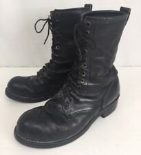 Linesman Boot Mens Size 9.5 Black Leather Boots In Excellent Condition