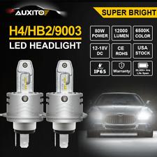 2X H4 9003 HB2 12000LM CREE LED Headlight Kit Hi Lo Beam White 6500K Bulbs Lamp