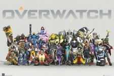 OVERWATCH ~ ANNIVERSARY LINEUP CHARACTERS 24x36 Video Game Poster NEW/ROLLED!
