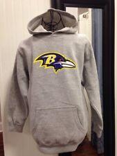 Baltimore Ravens football NFL Gray Hoodie Sweatshirt Youth Medium Size 8-10 NWOT