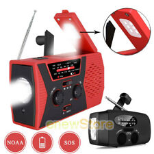 Camping Light Radio Solar Hand Crank Power Emergency Radio AM FM NOAA Forecast