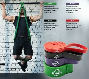 Resistance Bands Pull Up Heavy Duty Set Assisted Exercise Tube Home Gym Fitness