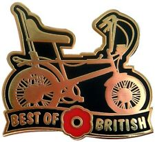 BEST OF BRITISH RALEIGH CHOPPER REMEMBRANCE DAY ENAMEL PIN BADGE