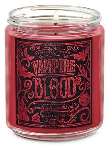 Bath & Body Works Mason Jar Single Wick Scented Candle HALLOWEEN VAMPIRE BLOOD