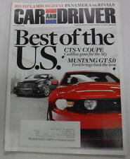 Car And Driver Magazine CTS-V Coupe & Mustang GT 5.0 March 2010 072815R