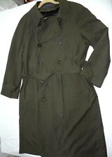 MENS brown trench JACKET CHAPS by RALPH LAUREN SIZE 40R rain coat zip in vest