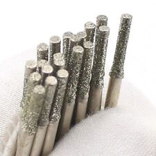 30Pcs 2mm Diamond Saw Drill Hole Cutter Coated Solid Bits for Dremel Gemstone