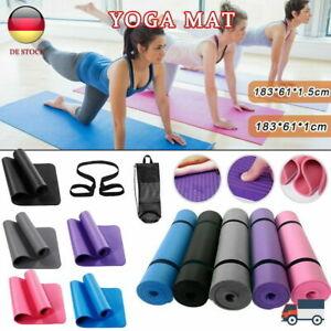 10/15mm JOYHUT Yogamatte Fitnessmatte Gymnastikmatte Pilates Sportmatte Yoga NEU