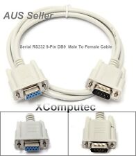 1M-1.3M Serial RS232 9-Pin Male To Female DB9 M-F PC Converter Extension Cable