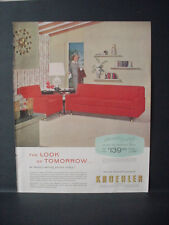 1956 Kroehler Sofa Chair Furniture Ad Great Colors Vintage Print Ad 10758
