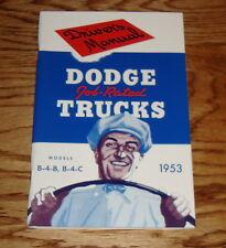 1953 Dodge Truck Owners Operators Manual 53