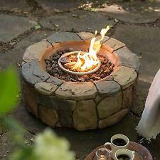 Outdoor Fire Pit Fireplace Campfire Patio Deck Backyard Heater Lava Rock Propane