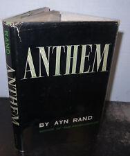 Ayn Rand Anthem Printed 1953 1st US Edition 1st Printing HB/DJ Scarce Caxton