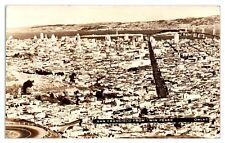 1941 Rppc San Francisco, Ca from Twin Peaks Real Photo Postcard