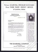 1933 Gamewell fire alarm box Lewiston Main photo vintage trade print ad