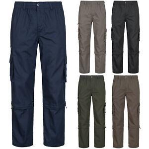 Herren Cargo 2-in-1 Hose / Shorts Zip Off Outdoor Freizeit Arbeitshose ID606 NEU