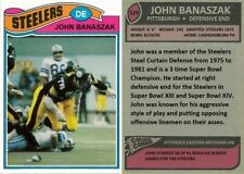 John Banaszak Pittsburgh Steelers Custom Card